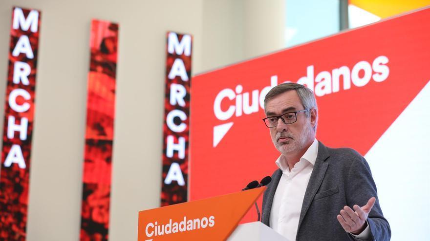 José Manuel Villegas durante la comparecencia en Madrid.