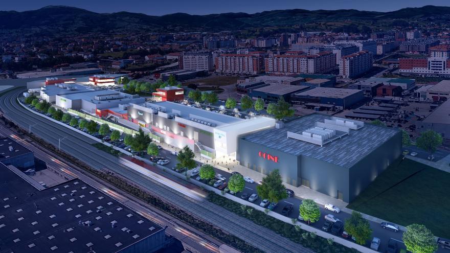 Infografía con una imagen aérea del proyecto de Bahía Real.