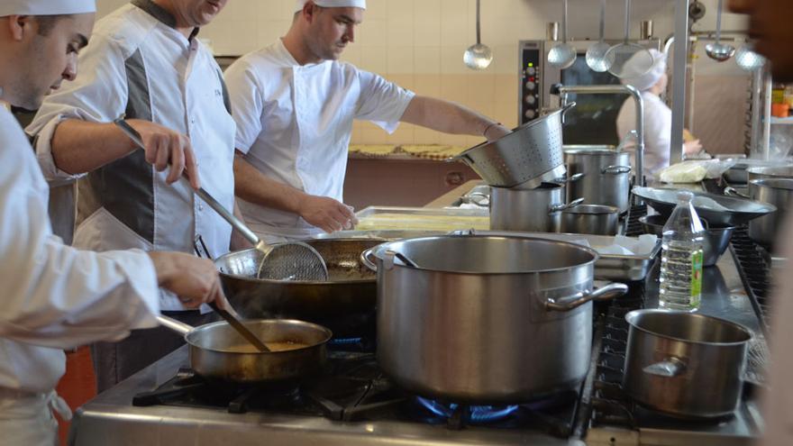 Alumnos de la Escuela Superior de Gastronomía de Toledo