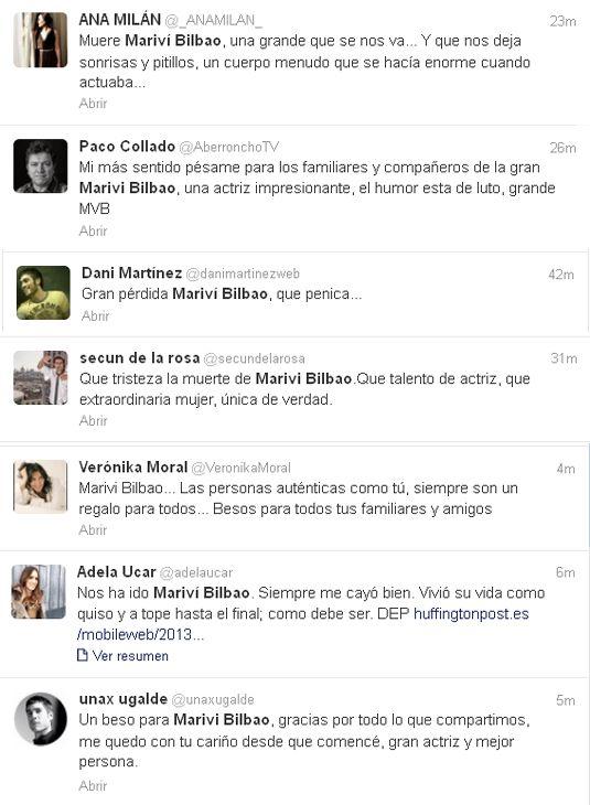 """Conmoción por la muerte de Mariví Bilbao: """"Gracias por tantas cosas, querida Mariví"""""""