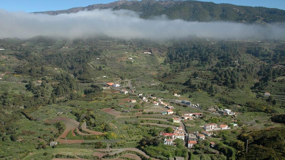 Panorámica del barrio de Llano Negro del municipio de Garafía.