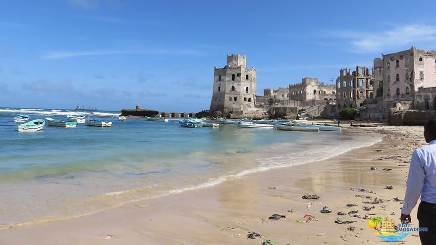 Vista del faro de Mogadiscio.