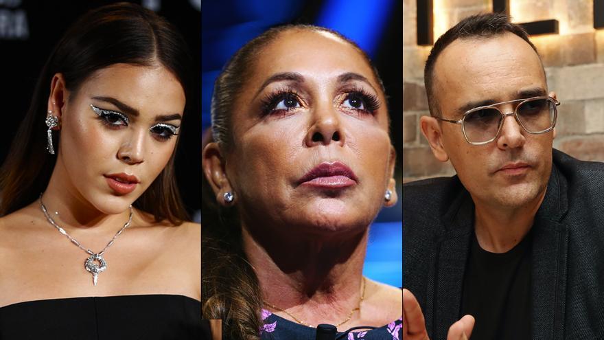 Danna Paola, Isabel Pantoja y Risto Mejide