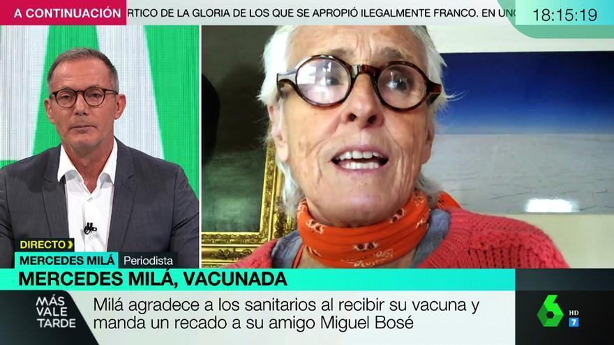 Hilario Pino con Mercedes Milá en 'Más vale tarde'