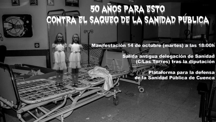 Cartel manifestación por la sanidad de Cuenca