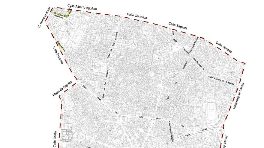 Plano de Madrid Central (pincha para ampliar)
