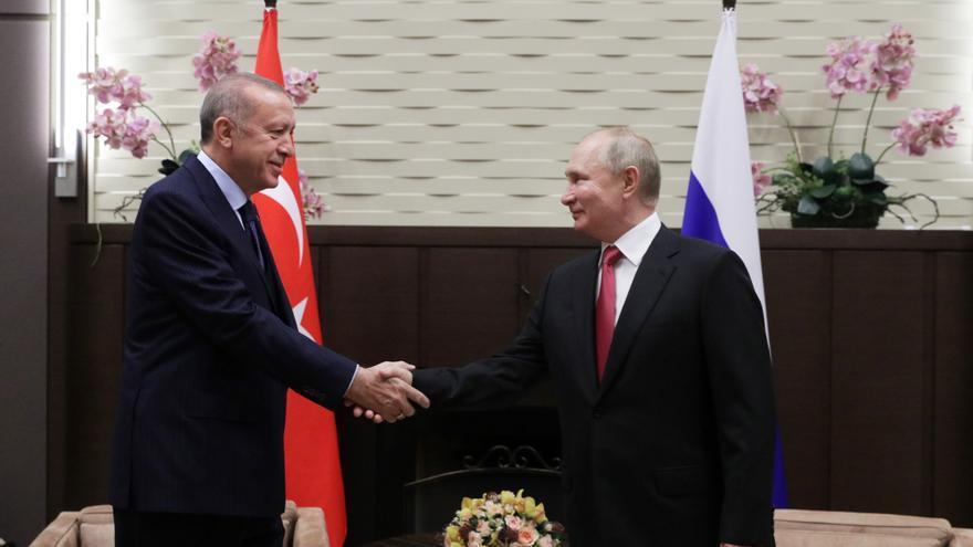 Putin sale de autoaislamiento por covid con una reunión con Erdogan en Sochi
