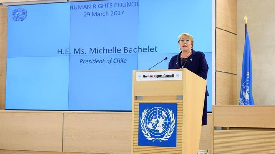 Bachelet pide el ingreso en el Consejo de D.Humanos y aumentar en 3 % su presupuesto