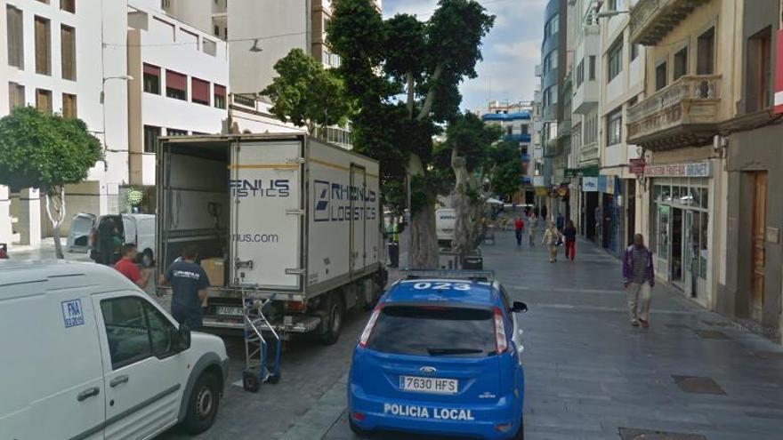 Calle de San Bernardo de Las Palmas de Gran Canaria.