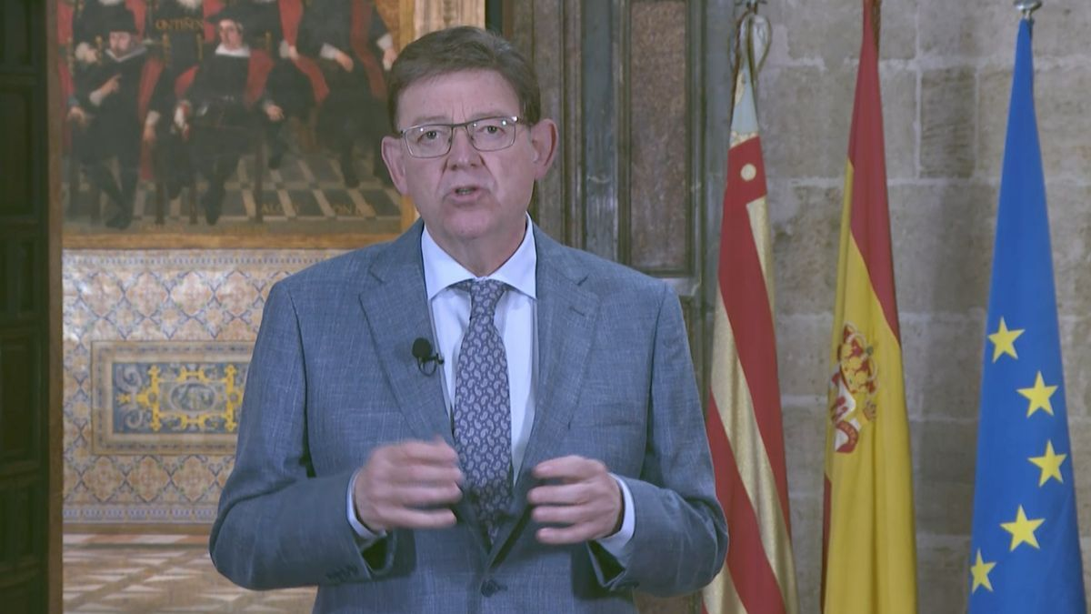 Ximo Puig durant la declaració institucional.