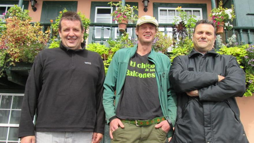 Ricardo Hernández, Heiko Bartch y Fernando Rodríguez, de izquierda a derecha. Foto: LUZ RODRÍGUEZ.