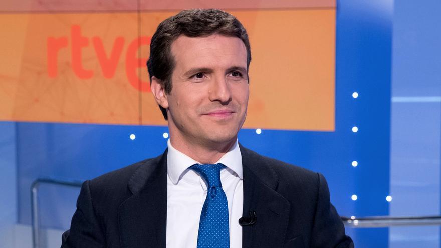 Pablo Casado en una entrevista anterior en TVE