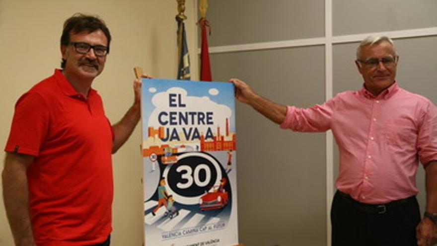 El concejal Giuseppe Grezzi y el alcalde, Joan Ribó, han presentado la campaña