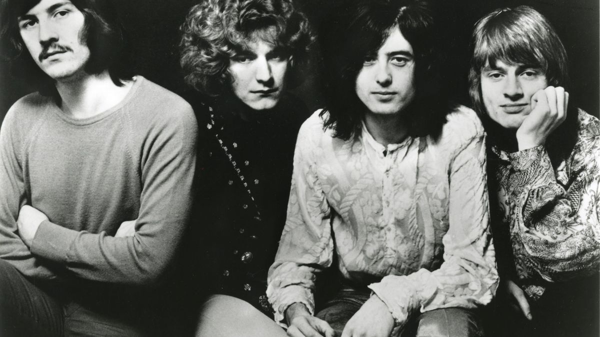 El cuarteto de Led Zeppelin al completo