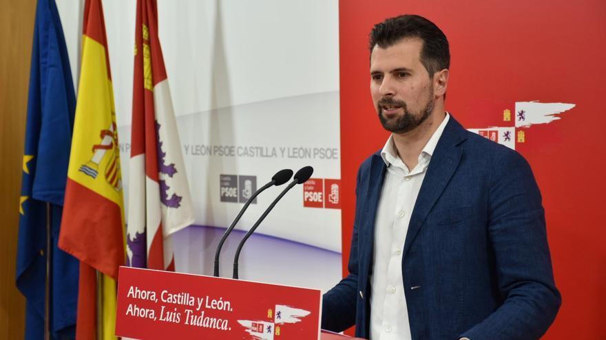 Luis Tudanca durante la campaña de las pasadas elecciones autonómicas.