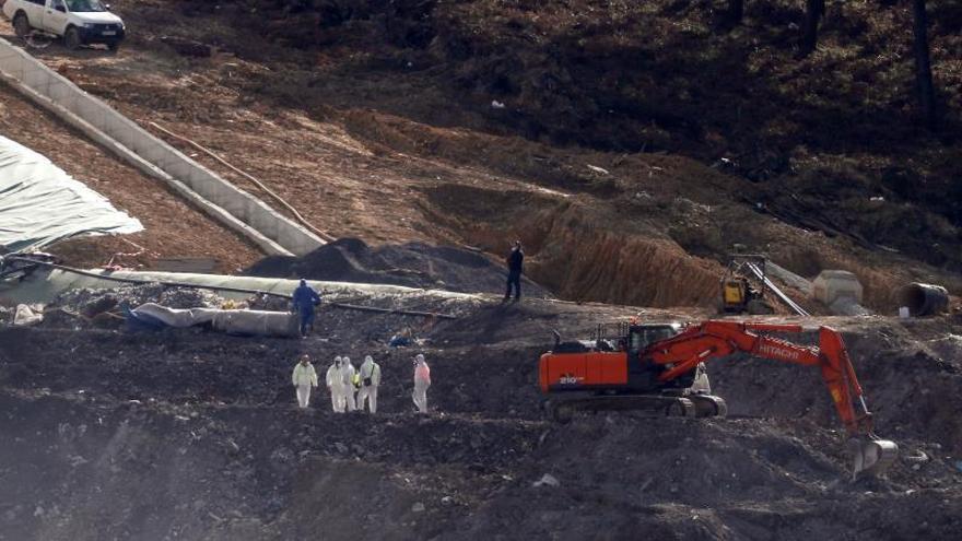 Los técnicos no ven riesgo de nuevos desplazamientos del terreno en Zaldibar