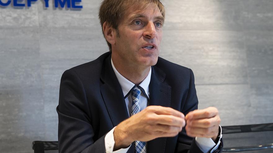 Enrique Conde, presidente de CEOE-Cepyme Cantabria. | JOAQUÍN GÓMEZ SASTRE