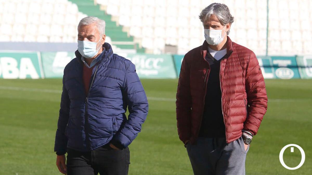 Miguel Valenzuela y Pablo Alfaro, en El Arcángel.