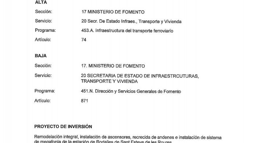 Enmienda de ERC a los PGE sobre Sant Esteve de les Roures