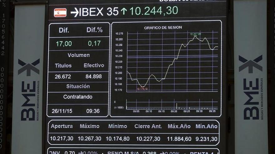 El IBEX 35 baja el 0,13 % en la apertura, hasta los 10.297 puntos