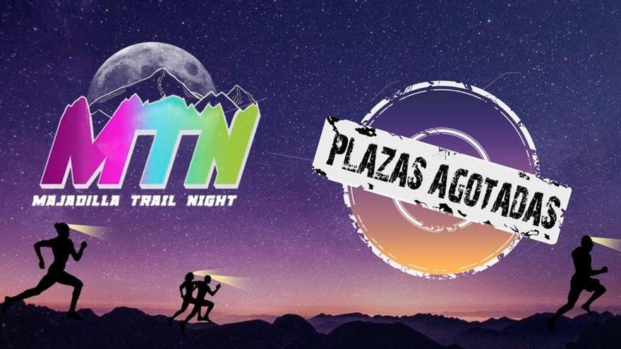 """Cartel de """"plazas agotadas"""" de la 'Majadilla Trail Night'"""