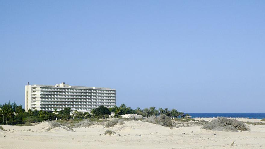 El Hotel RIU en las Dunas de Corralejo, en Canarias