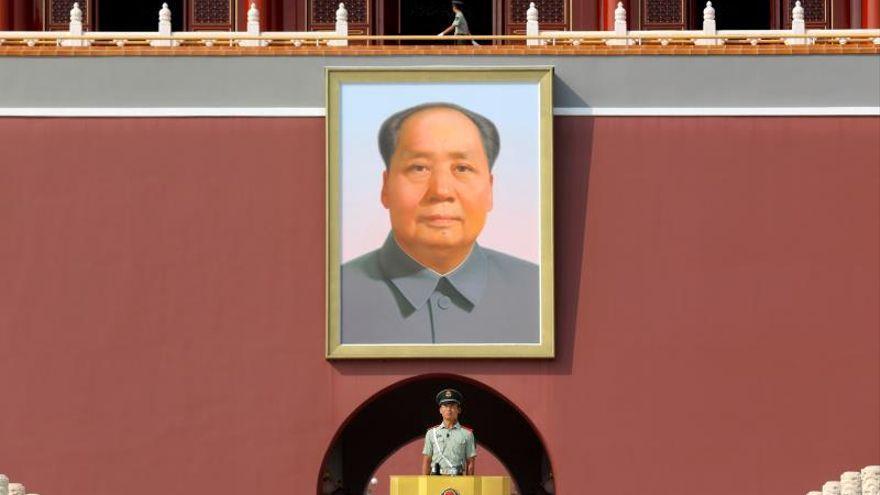Retrato de Mao en la Ciudad Prohibida de China