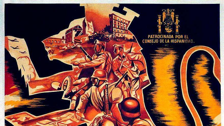 """Póster de """"Raza"""" de Sáenz de Heredia"""