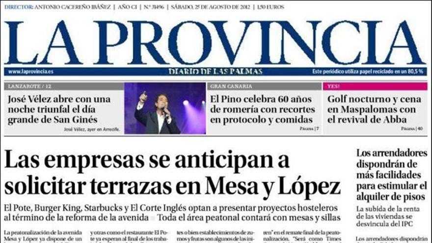 De las portadas del día (25/08/2012) #1
