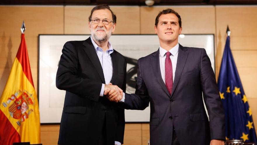 Mariano Rajoy y Albert Rivera en su tercer encuentro en el Congreso / Foto: Ciudadanos
