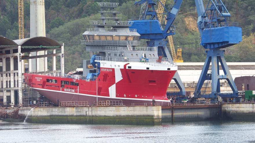 El Grupo Zamakona Yards realiza la botadura del buque 'Ocean Falcon' en sus instalaciones de Pasaia