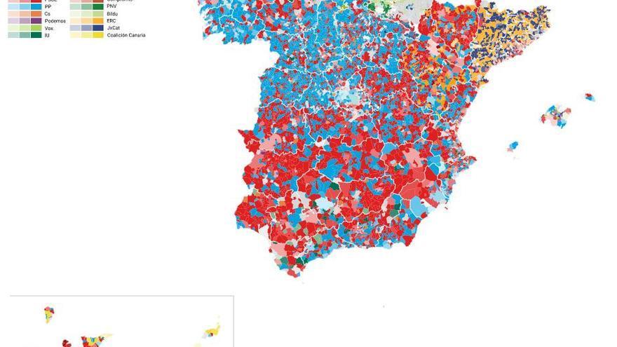 Resultados de las elecciones 26M por municipios.