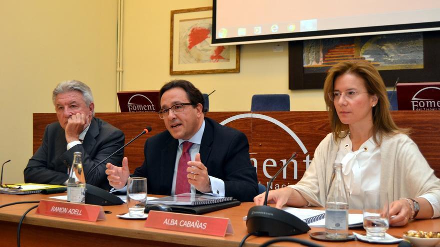 Ramón Adell, en el centro de la imagen. Foto: Foment del Treball
