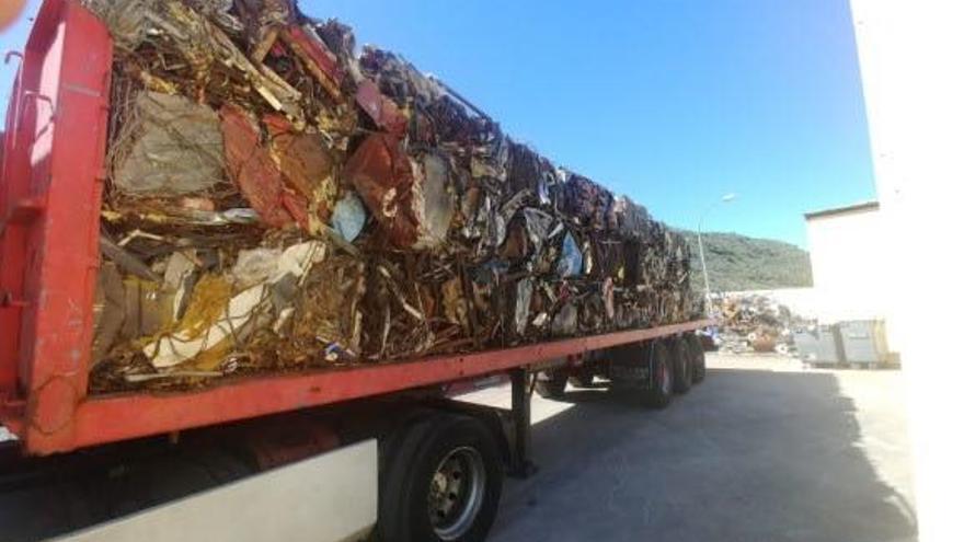 Material férrico sacado de la isla de El Hierro