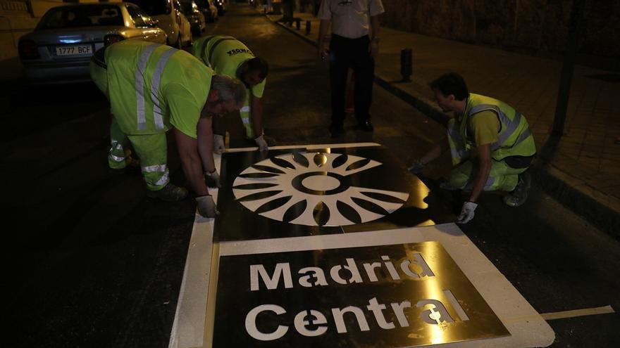 Pictograma colocado el pasado verano | AYUNTAMIENTO DE MADRID