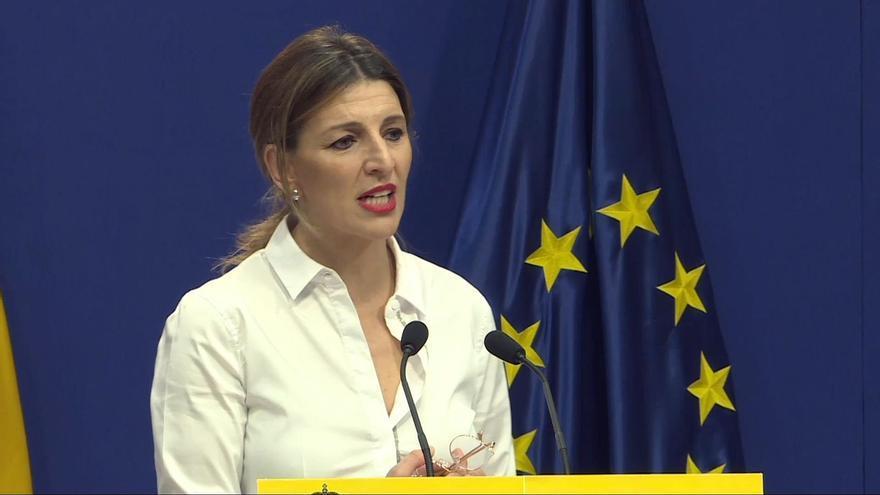"""Yolanda Díaz respalda a Ábalos y dice que España """"tiene problemas mucho más severos"""" que esta reunión"""
