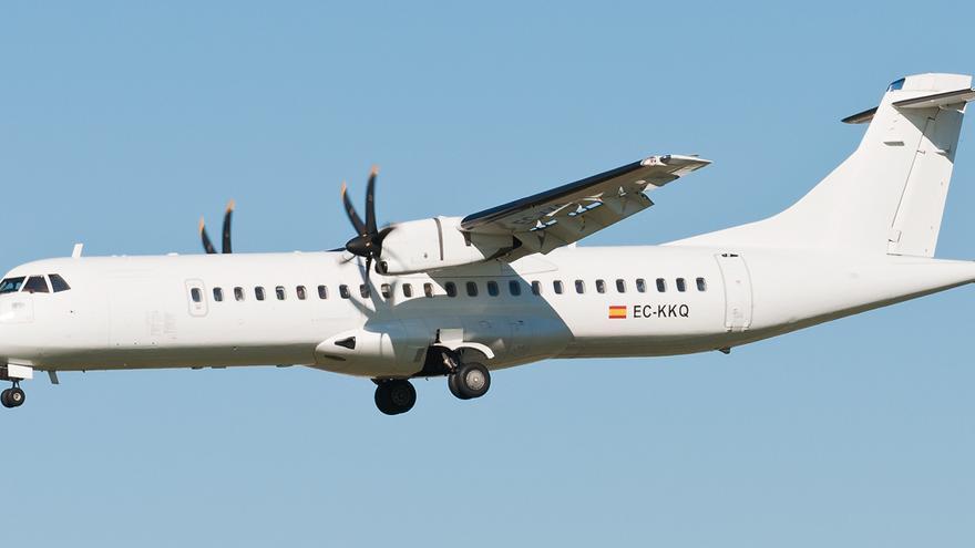 Un ATR72 turbohélice.