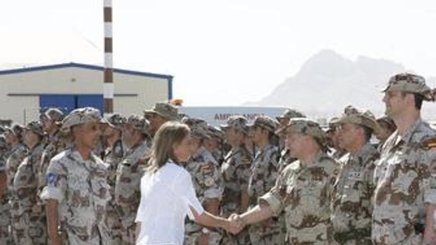Visita de las tropas en Kabul (Afganistán)