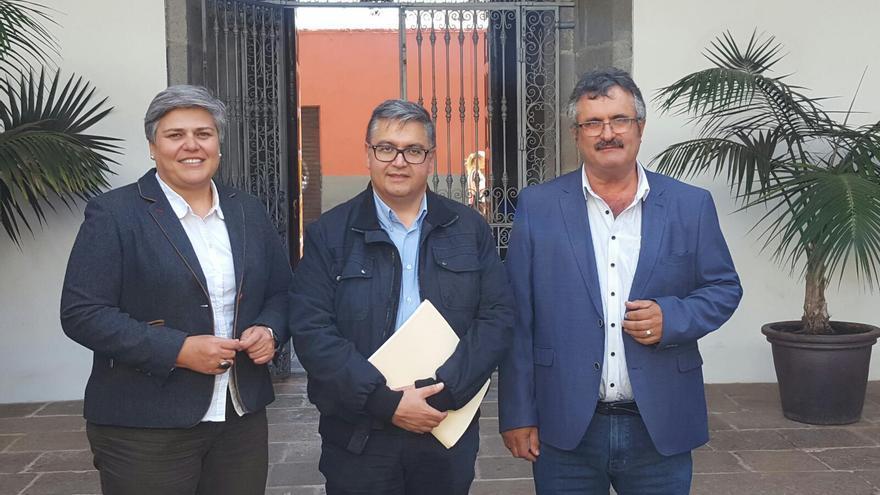 Primitivo Jerónimo, Noelia García y Víctor Oliva.