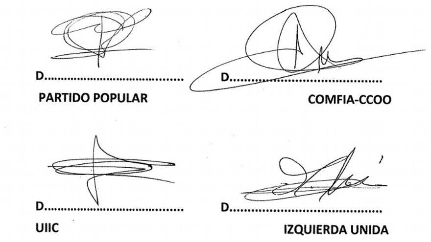 Firmas del Acuerdo por la estabilidad y desarrollo de Caja Madrid (2009)