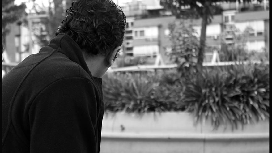 Uno de los refugiados sirios entrevistados./ Fotografía: María Abarca