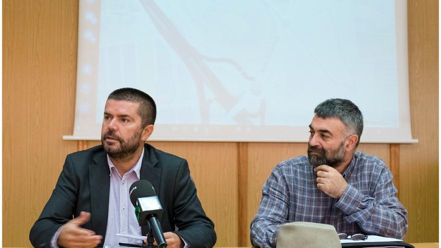 Vicerrectores de la Universidad de La Laguna durante la presentación de la 'app' VíaULL