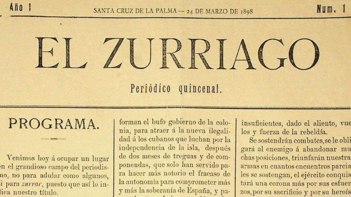 Portada de El Zurriago del 24 marzo de 1898.