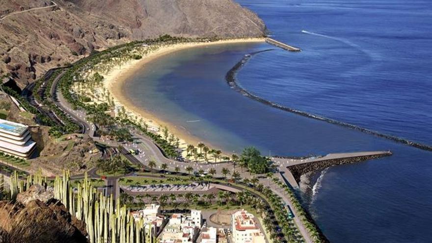Infografía sobre cómo quedará la playa tras aplicar el Plan Especial