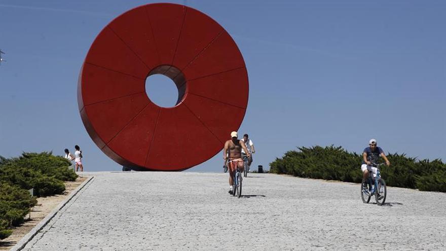Veinticinco años del Juan Carlos I, el parque de los olivos y las estatuas