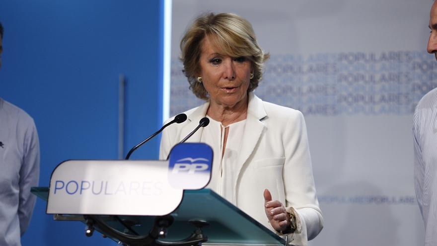 """Aguirre, preguntada sobre si dimitirá como Fabra y Bauzá, dice que hablará del congreso """"cuando llegue el momento"""""""