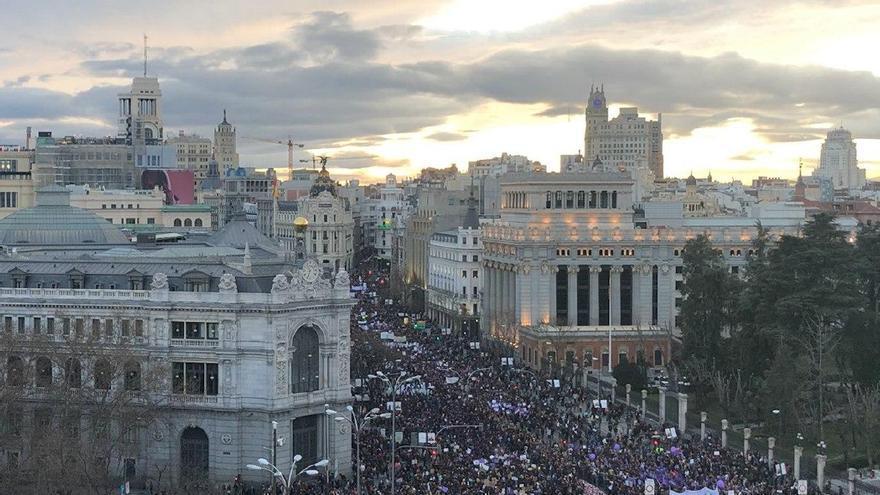 manifestación del 8M por el centro de Madrid / A.R.