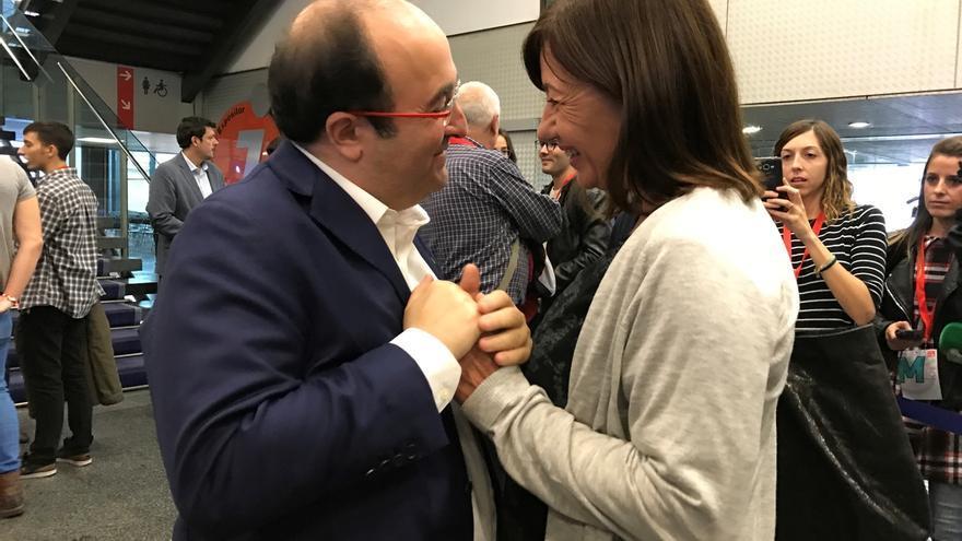 """Francina Armengol en el congreso del PSC: """"No entiendo un PSOE sin el PSC"""""""