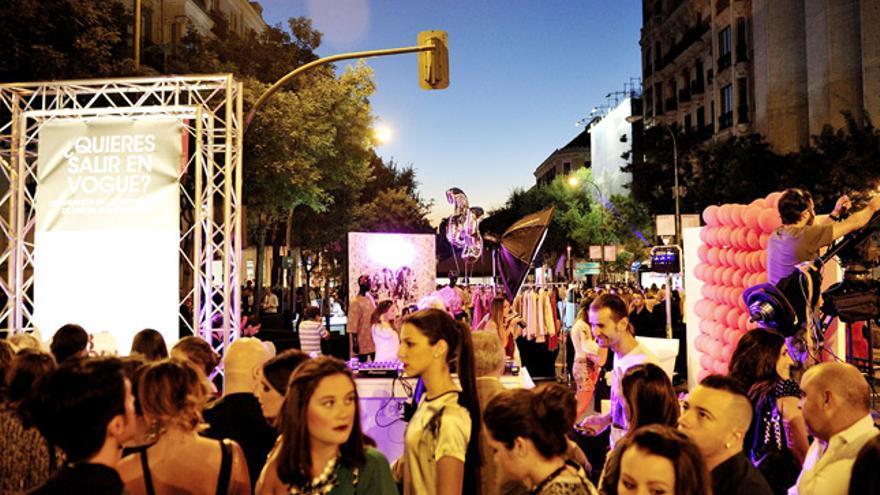 Imagen de una celebración anterior del 'Vogue Fashion's Night Out', en Madrid