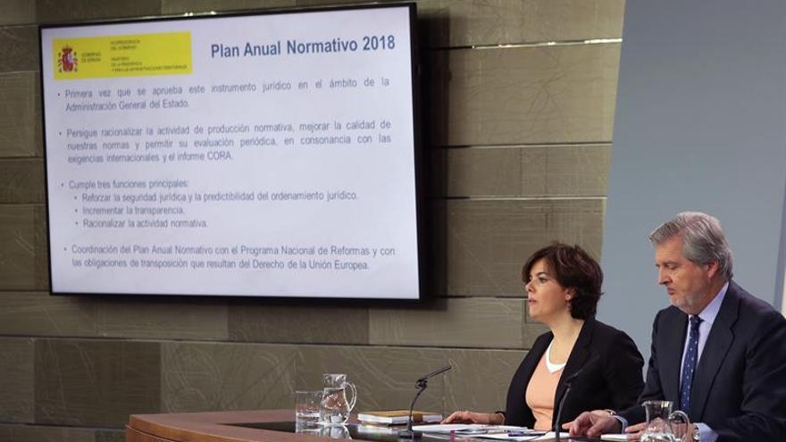 El Gobierno aprueba el Plan Normativo para 2018 que contiene 287 nuevas leyes